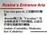 rosina s entrance aria