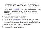 predicato verbale nominale