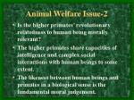 animal welfare issue 2