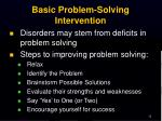 basic problem solving intervention