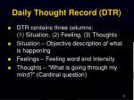 daily thought record dtr