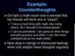 example counterthoughts