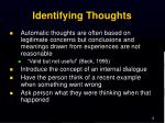 identifying thoughts
