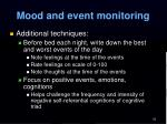 mood and event monitoring