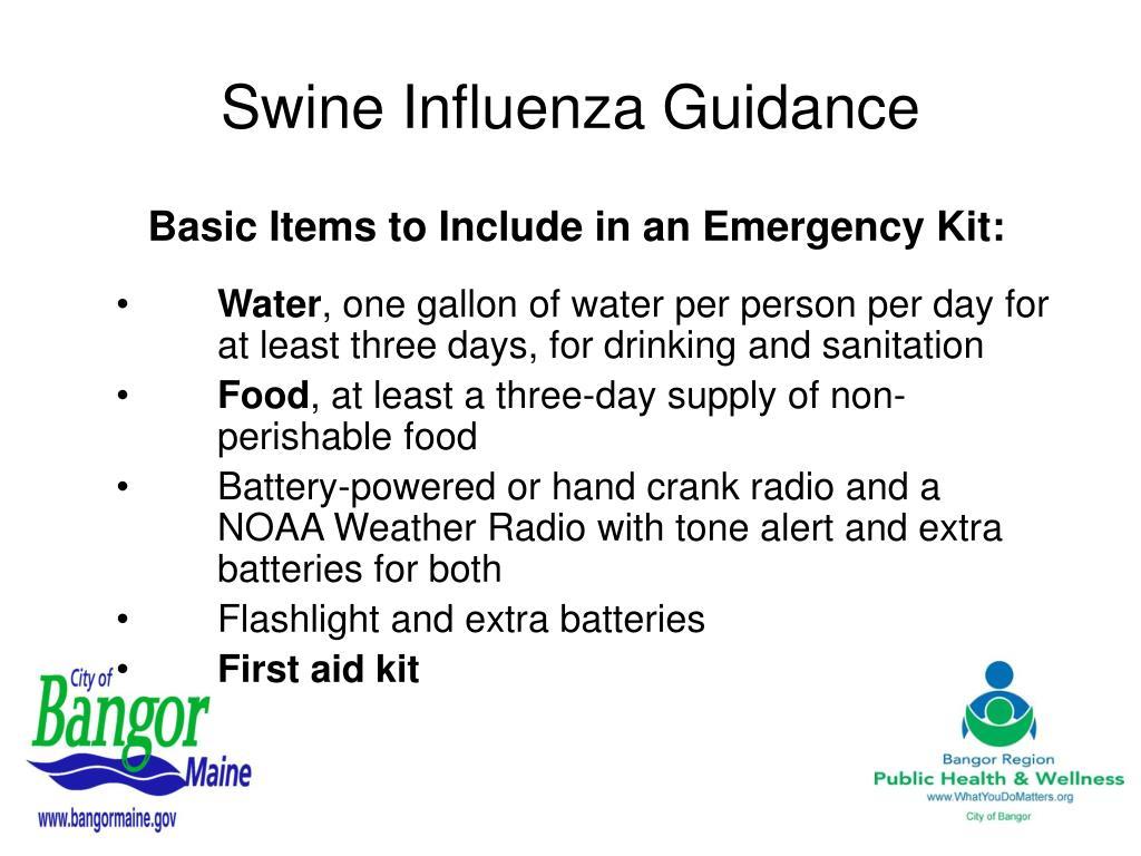 Swine Influenza Guidance