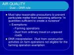 air quality dust dnr rule