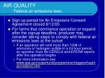 air quality federal air emissions laws