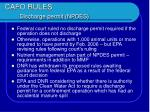 cafo rules discharge permit npdes