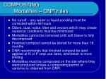 composting mortalities dnr rules27