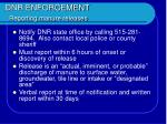dnr enforcement reporting manure releases