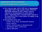 manure application all livestock operations no pollution