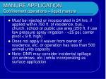 manure application confinement operations liquid manure
