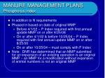 manure management plans phosphorus index