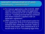 manure management plans recordkeeping commercial n p