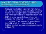 manure management plans recordkeeping commercial n p22