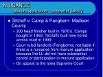 nuisance manure application landowner liability