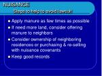 nuisance steps to help to avoid lawsuit46