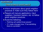nuisance steps to help to avoid lawsuit47