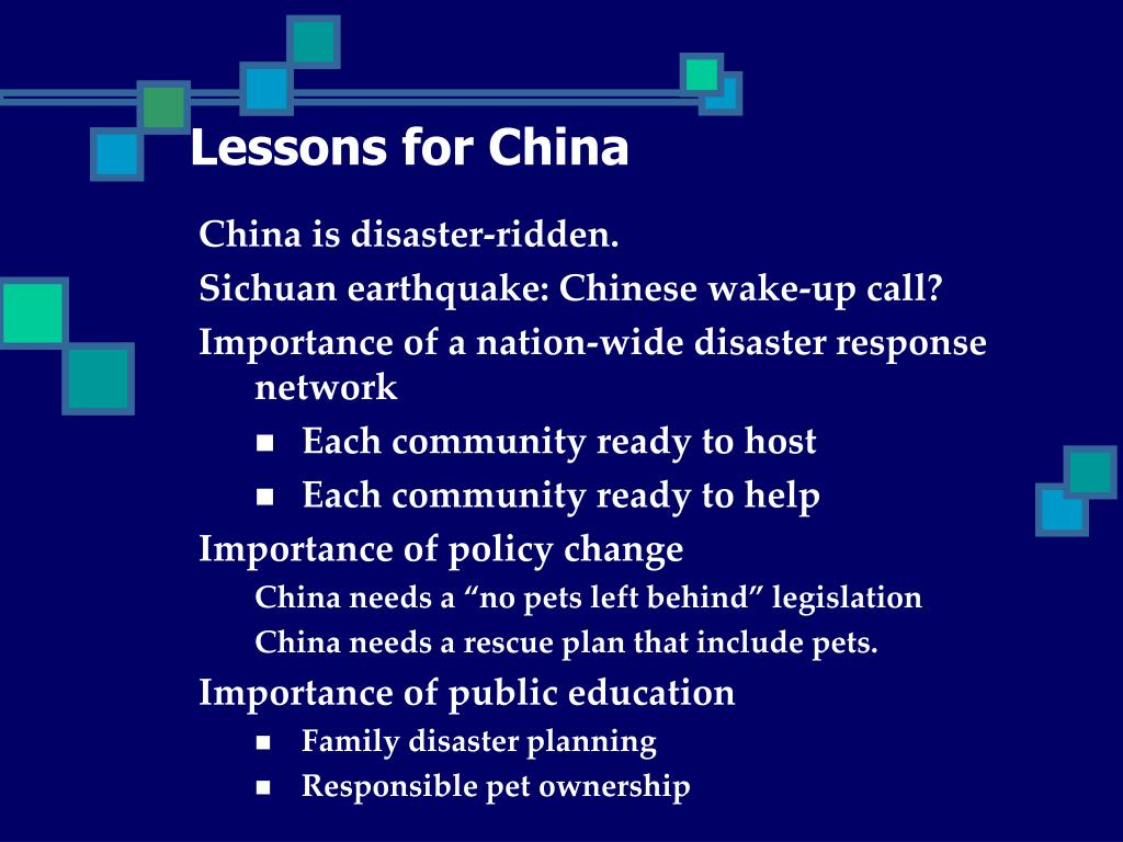 Lessons for China