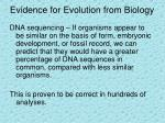 evidence for evolution from biology10