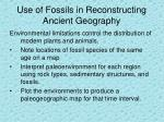 use of fossils in reconstructing ancient geography