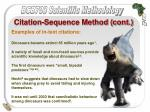 citation sequence method cont