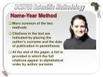 name year method