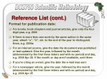 reference list cont38