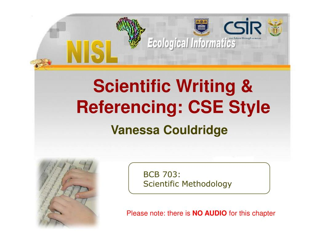 scientific writing referencing cse style vanessa couldridge l.