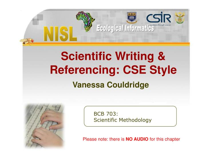 scientific writing referencing cse style vanessa couldridge n.