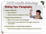 writing tips paragraphs