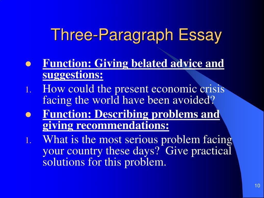 Three-Paragraph Essay