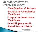 are these constitute secretarial audit