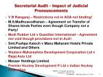 secretarial audit impact of judicial pronouncements