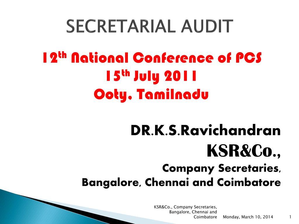secretarial audit l.