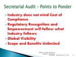 secretarial audit points to ponder
