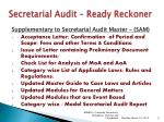 secretarial audit ready reckoner