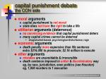 capital punishment debate the con side