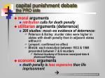 capital punishment debate the pro side