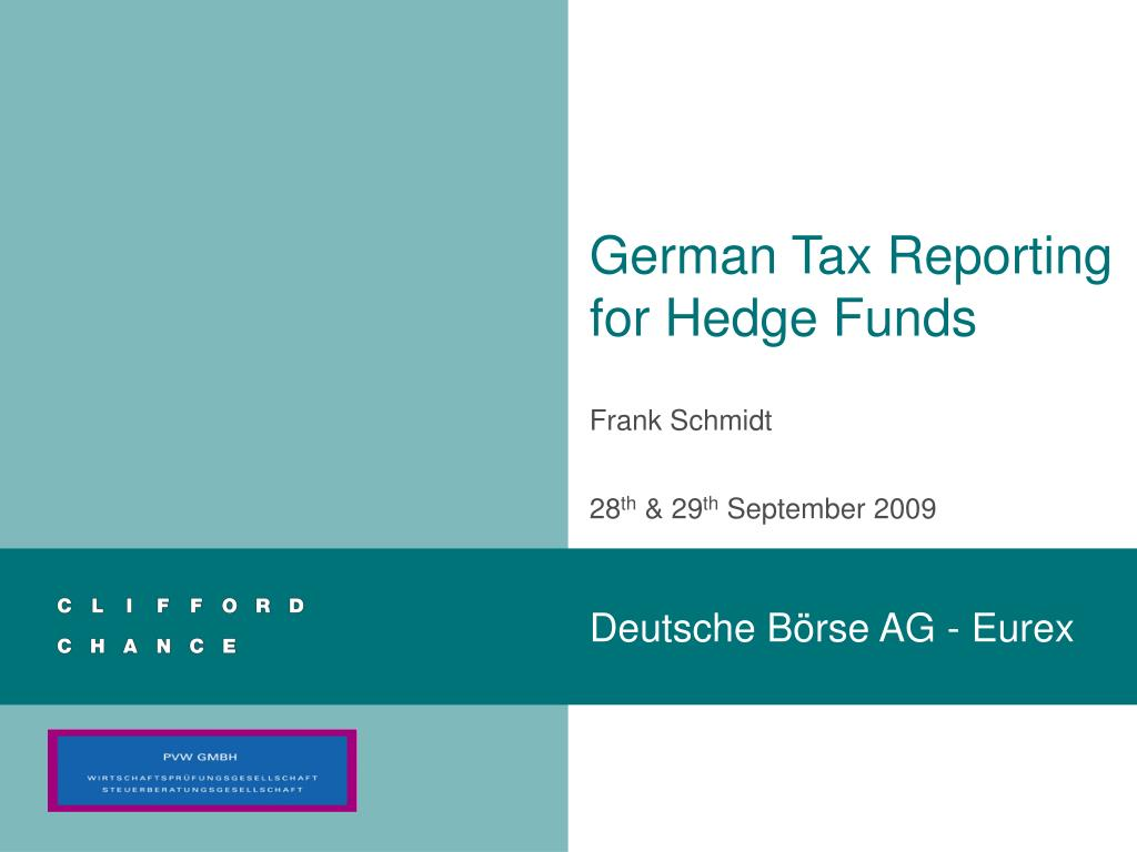 german tax reporting for hedge funds l.