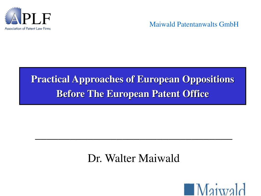 maiwald patentanwalts gmbh l.