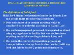halal slaughtering methods procedures adopted in vietnam