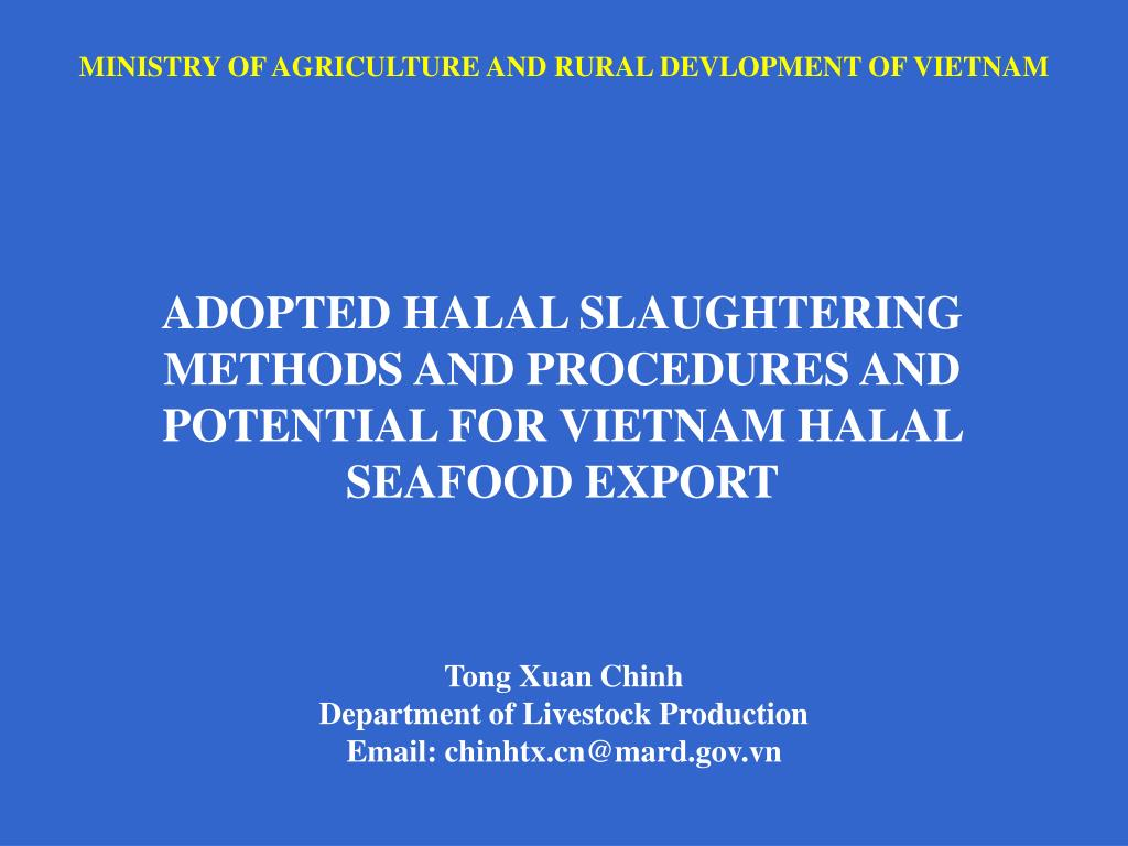 ministry of agriculture and rural devlopment of vietnam l.
