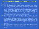 slaughtering process for halal food13
