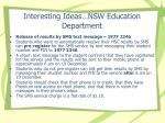 interesting ideas nsw education department