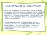 student access to mobile phones
