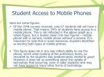 student access to mobile phones20
