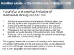 another crisis the intellectual crisis of csr