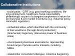 collaborative institutions