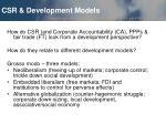 csr development models